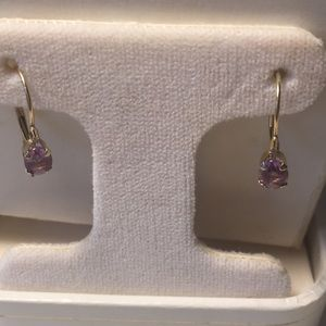 Jewelry - 14k gold and oval amethyst w/ diamond accent